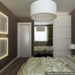 3-mobilier si accesorii albe si pereti gri amenajare dormitor modern 12 mp