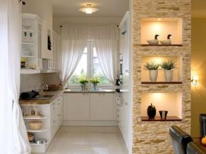 3-model bucatarie stil country rustic finisata cu piatra naturala