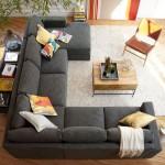 3-model canapea mare gri cu 3 laturi in amenajarea unui living modern