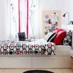 3-model modern pat cu cate doua sertare pe fiecare laterala