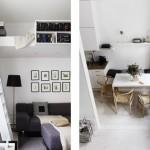 3-model pat construit deasupra canapelei dintr-un living modern scandinav