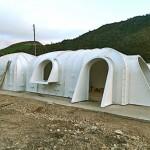3-module casa ecologica ingropata in pamant dupa montarea pe fundatie