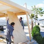 3-montarea peretilor casei modulare prefbricate din lemn vivood