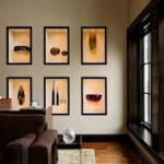 3-nise decorative dispuse simetric dotate cu polite din sticla transparenta decor living