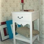 2-masa vintage din lemn culoare alba model golden light magazin decovintage