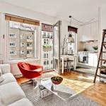 3-open space bucatarie si living stil scandinav apartament mic