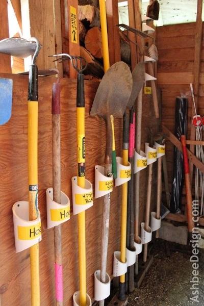 3-organizare a instrumentelor de gradinarit cu ajutorul tevilor ppr