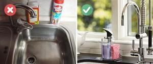 3-organizarea detergentilor de langa chiuveta din bucatarie