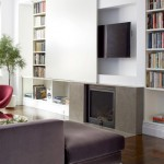 3-panou glisant mascare televizor modern in living
