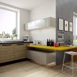 3-parchet laminat culoare natur amenajare bucatarie minimalista