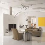3-pardoseala epoxidica alba in amenajarea unui living minimalist