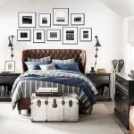 3-pat din piele maro si accesorii negre amenajare dormitor vintage