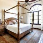 3-pat mare din lemn masiv amenajare dormitor stil spaniol