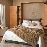 3-pat rabatabil integrat in mobila de perete pentru dormitoare mici