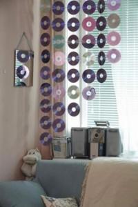 3-perdea decorativa handmade din cd-uri vechi
