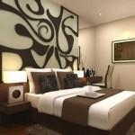 3-perete de accent din insertii decorative din lemn amenajare dormitor modern