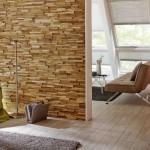 3-perete decorat cu panouri din lemn 3D UltraWood Teak Firenze amenajari interioare