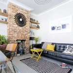 3-perete finisat cu caramida aparenta decor living modern cu accente vintage