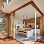3-perete placat cu caramida decor bucatarie moderna minimalista