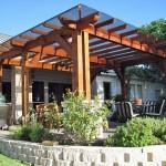 3-pergola din lemn terasa exterioara acoperita cu policarbonat