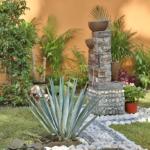 3-pietre albe contur mic bazin cu apa amenajare curte casa