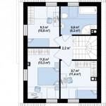 3-plan mansarda casa mica 102 mp cu 3 dormitoare