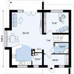 3-plan parter proiect casa z102 model 2018