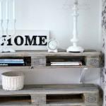 3-polite de perete aspect vintage confectionate din paleti de lemn