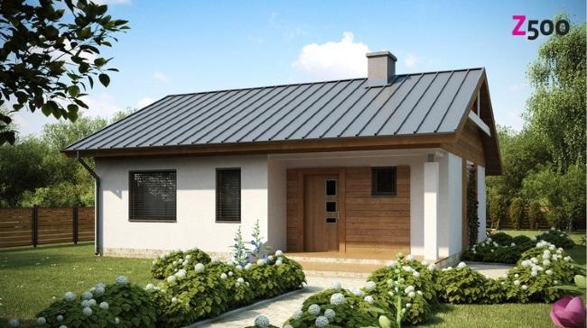 3 Proiect Casa Mica Doar Parter 70 Mp Cu 2 Dormitoare Casadex