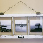 3-rama pentru tablouri si fotografii din fereastra veche din lemn
