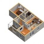 3-randare 3D casa mica din lemn pentru parinti sau bunici Mossfield Cottage