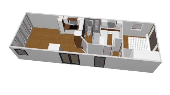 3-randare 3D schita compartimentare interioara casa model Anna 2018 Rot Resort