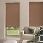 3-rolete textile simple maro decor ferestre living modern