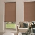 3-rolete textile simple maro decor ferestre living modern