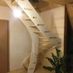 3-scara interioara din lemn casa mica prefabricata din lemn MADI Home