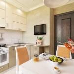 3-scaune tapiterie portocalie decor bucatarie moderna cu mobila mdf lucios crem