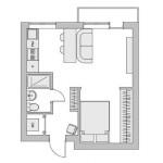 3-schita apartament cu 2 camere dupa interventia designerului