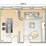 3-schita plan amenajare living cu loc de luat masa