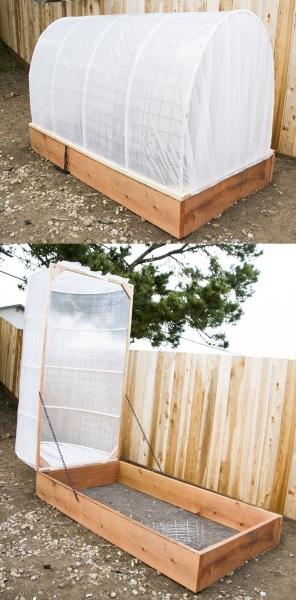 3-sera rasaduri structura rabatabila lemn si pvc si pereti din folie de plastic