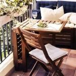 3-set bancuta cu lada de depozitare masa si scaun pliant mobilier balcon