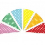 3-set farfurii de desert colorate minidots magazin outlet design