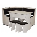 3-set mobilier de bucatarie cu coltar masa si taburete magazin Praktiker