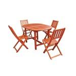 3-set mobilier de gradina masa si 4 scaune pliante Praktiker