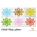 3-set stickere colorate flowers pentru faianta bucatarie
