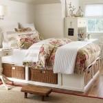 spatiu depozitare pat dormitor romantic stil provence