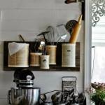 3-suport handmade diy din cutii de conserve pentru ustensilele de bucatarie