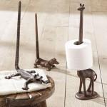 3-suporturi pentru hartie igienica in forma de animale cu cozi lungi