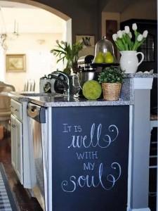 3-tabla de scris pe laterala unui dulap de bucatarie