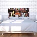 3-tablie de pat decorativa imprimeu carti Noyo Home