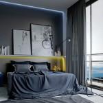 3-tablouri in calitate de element decorativ dormitor masculin modern
